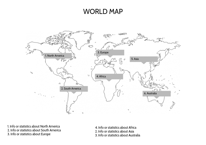 This is a graphic of Printable World Map with student