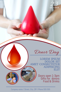 Free Blood Donor Day Flyer Poster Template