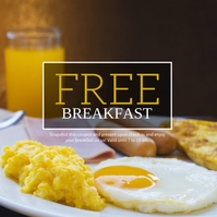 Free Breakfast Promotion Hotel & Resort Pos Instagram template