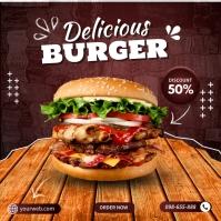Free Burger Templates Kvadrat (1:1)