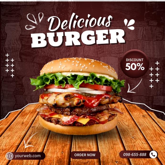 Free Burger Templates Carré (1:1)