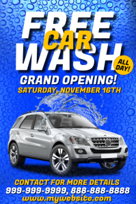 Free Car Wash Opening Template