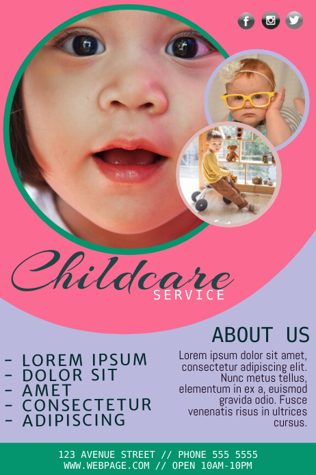Free Childcare Flyer Template Postermywall