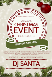 Free Chrismtas Event Flyer Template