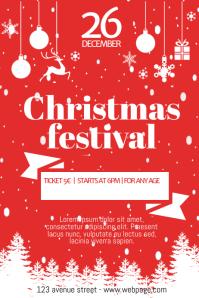 Free Christmas Festival Fair Flyer Template