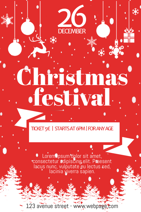 Free Christmas Festival Fair Flyer Template