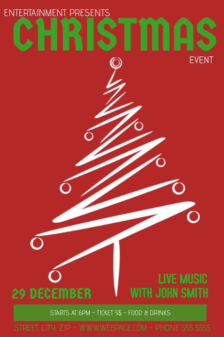 Free Christmas Flyer Template Poster