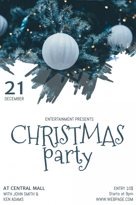 Christmas Party Flyer Template.Free Christmas Party Flyer Template Postermywall