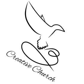 free church logo design template
