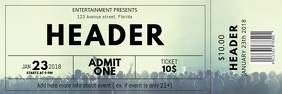Free Concert Ticket Template Banner 2' × 6'