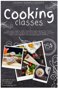 Free Cooking Classes School Lessons Poster Template