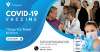 Free Covid-19 Vaccine Banner template Facebook Shared Image