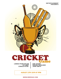 Free Cricket Flyer Template