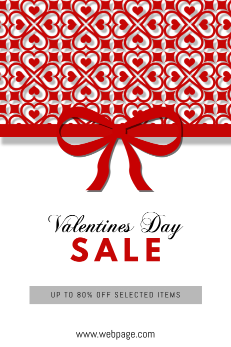 Free Customisable Valentines Day Sale Flyer Poster Template
