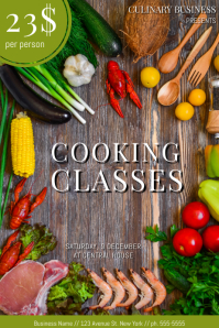 Free Customizable Cooking Classes School Poster Template