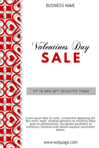 Free Customizable Valentines Day Promotion sale Flyer Poster
