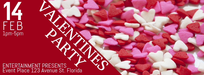 Free Customizable Valentines Party Facebook Cover Template