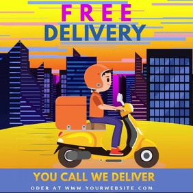 Free delivery ,small business Wpis na Instagrama template