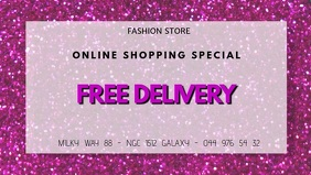 Free Delivery Special Glam Fashion Beauty ad