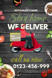 Free Delivery Template Poster