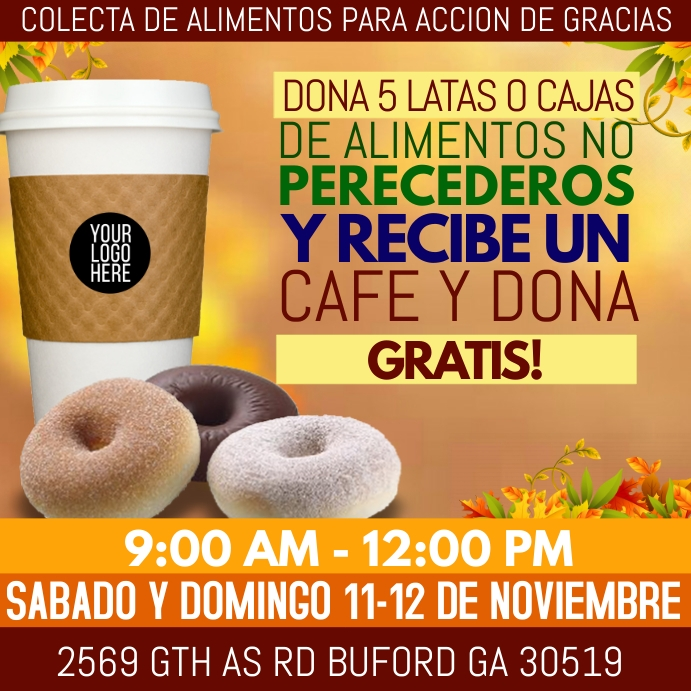 Free Donuts and coffee