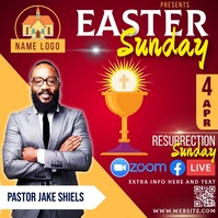 free easter resurrection church ad template Post Instagram