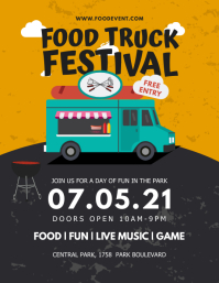 Free Entry Food Truck Festival Flyer Template