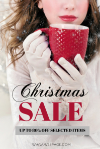Free Fashion Sale Retail Christmas Flyer Template