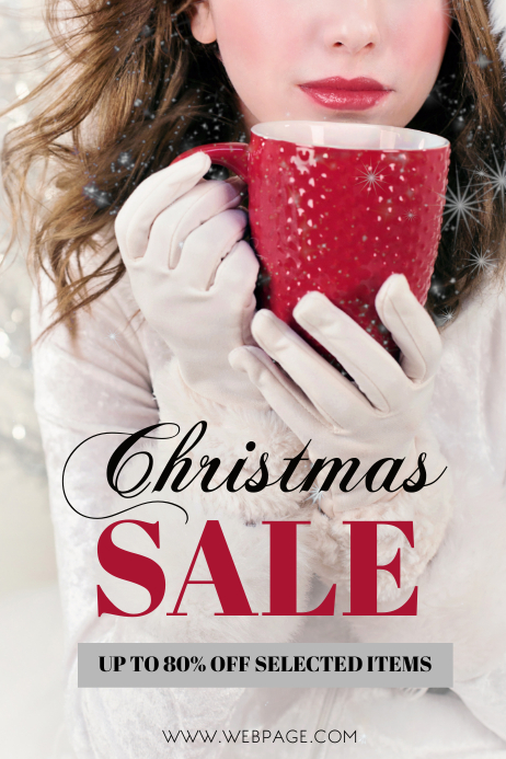 free fashion sale retail christmas flyer template postermywall