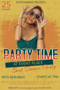 Free Funky Party Flyer Template