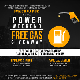 Free Gas Giveaway Pos Instagram template