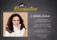 Free Graduation Invitation Template A5