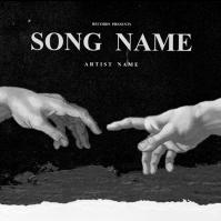 FREE HANDS mixtape cover art design template Albumcover