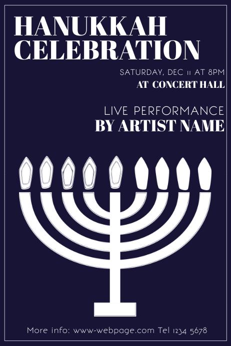 Free Hanukkah Flyer Template