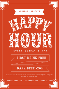 free happy hour invitation template