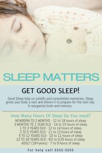 Free Healthy Sleep Flyer Template