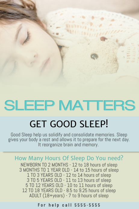 Free Healthy Sleep Flyer Template