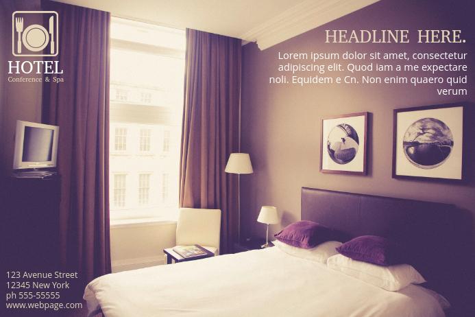 Kostenlose Hotel Flyer Vorlage-Vorlage | PosterMyWall