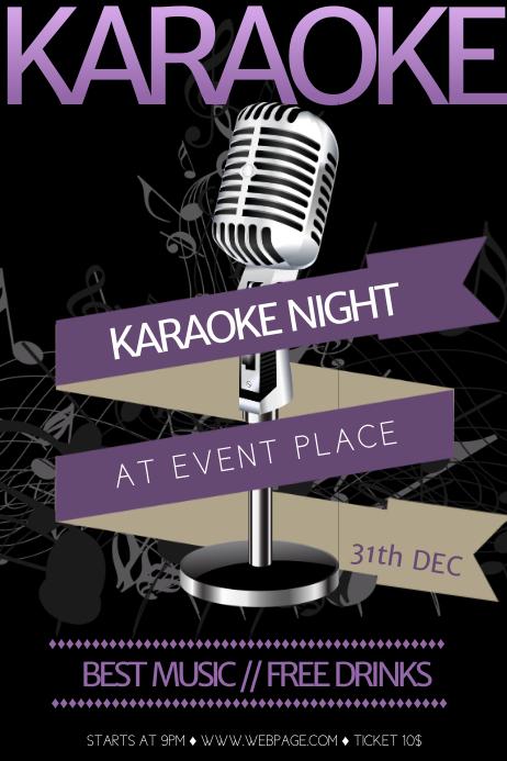 Free Karaoke Flyer Template Плакат