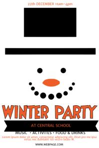 Free Kids Winter Party Fair Flyer Template