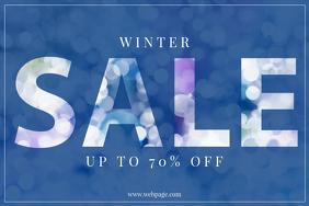 Free Landscape Winter Christmas Sale Flyer Template