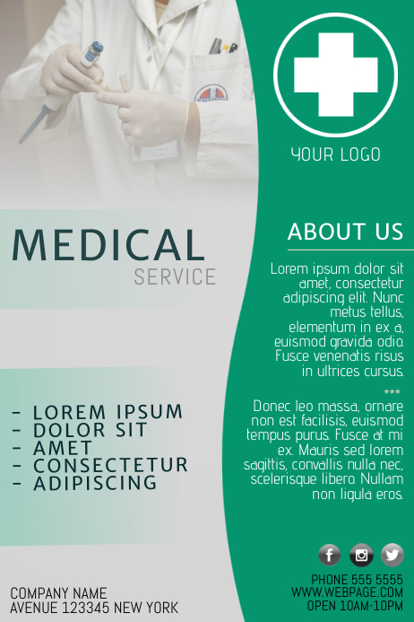 Free Medical Flyer Template for Medical Business