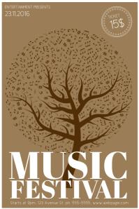 Free Music Festival Flyer Template