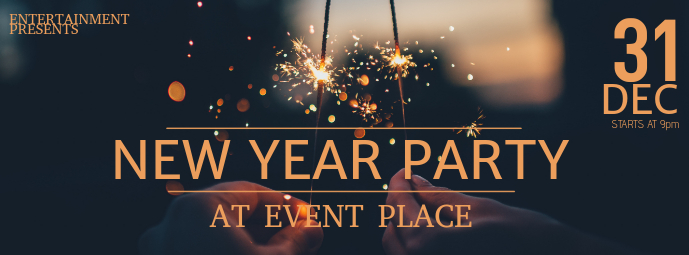 Free New Year Party Event Facebook Cover Template | PosterMyWall