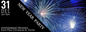 Free New Year Party Event Facebook Cover Template