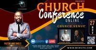free online church conference ad template Ibinahaging Larawan sa Facebook