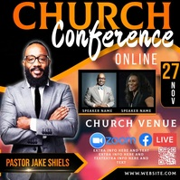 free online church conference ad template Wpis na Instagrama