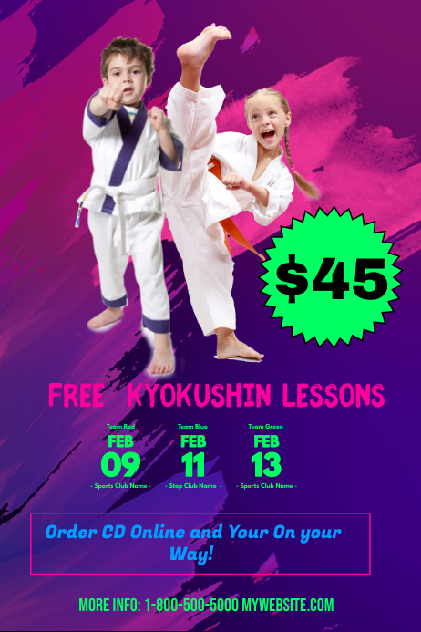 free online kyokushin karate lessons template