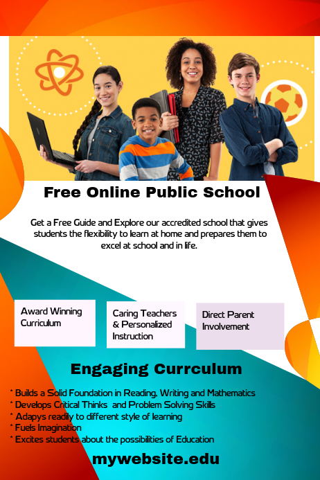 free online public school template postermywall