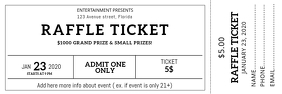 Free Printable Raffle Ticket Design Template Banner 2' × 6'